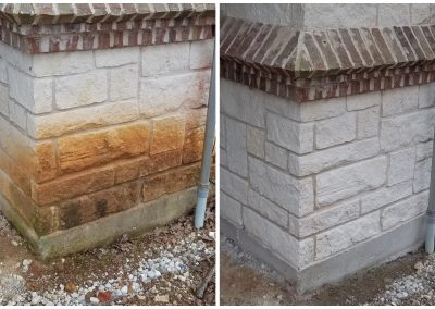 brick cleaning with sandblasting before and after pictures