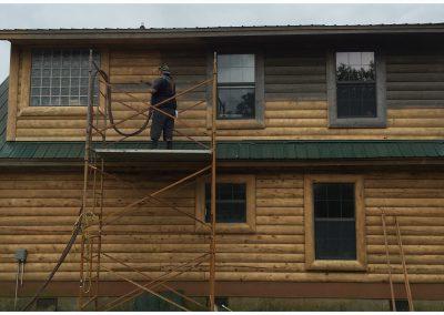 Restore Wood Cabins with Sandblasting OK, Tx