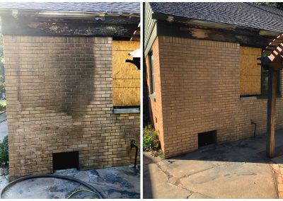 Clean Bricks with Sandblasting Before and After pictures
