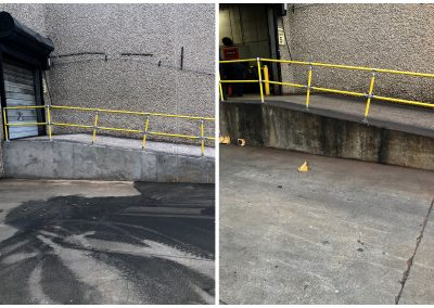 Clear Buildup on Concrete Stains Before and After pictures