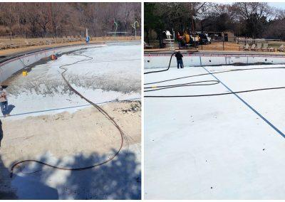 Remove Buildup on Pool